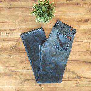7 For All Mankind Bootcut Jeans Swirl Pocket 30